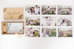 Wooden USB in box with jumbo prints of each photo (R400)